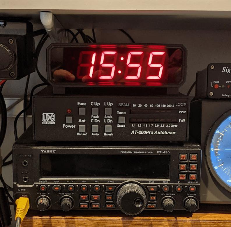 Finished WiFi NTP Clock